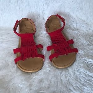 Other - 2/$15 Red girls sandals 10c